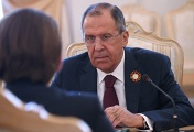 Russian Foreign Minister Sergey Lavrov at talks with Austrian Foreign Minister Sebastian Kurz